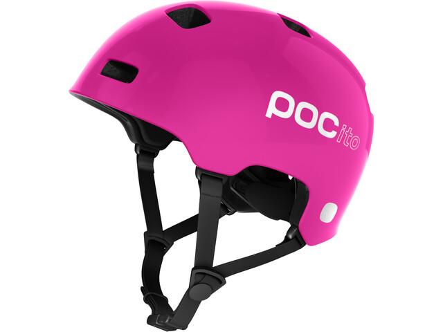 POC POCito Crane Kask rowerowy Dzieci, fluorescent pink